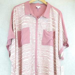LuLaRoe Amy Shirt 2XL Rose Pink Dolman Sleeve NWT